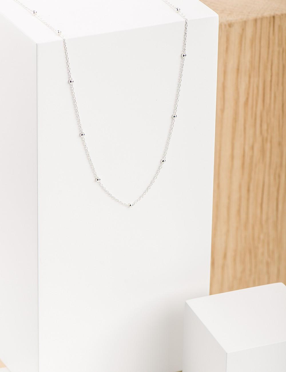 collier ras de cou argent 35 cm